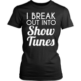 Theater - Show Tunes - District Made Womens Shirt / Black / S - 10