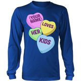 Teacher - Candy Hearts Kids - District Long Sleeve / Royal Blue / S - 6