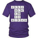 Science - Keep Calm - District Unisex Shirt / Purple / S - 4