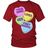 First Grade - Candy Hearts - District Unisex Shirt / Red / S - 3