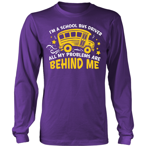 School Bus Driver - Problems - District Long Sleeve / Purple / S - 1