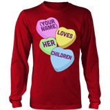 Teacher - Candy Hearts Children - District Long Sleeve / Red / S - 7