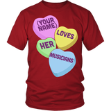 Music - Candy Hearts - District Unisex Shirt / Red / S - 3