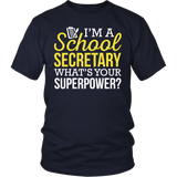 Secretary - Superpower - District Unisex Shirt / Navy / S - 2