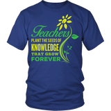 Teacher - Seeds of Knowledge - District Unisex Shirt / Royal Blue / S - 2