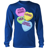 Kindergarten - Candy Hearts - District Long Sleeve / Royal Blue / S - 6