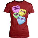 Teacher - Candy Hearts Children - District Made Womens Shirt / Red / S - 14
