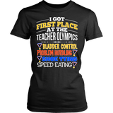 Teacher - Teacher Olympics - District Made Womens Shirt / Black / S - 10