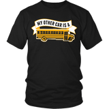 School Bus Driver - My Other Car - District Unisex Shirt / Black / S - 5