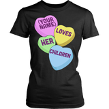 Teacher - Candy Hearts Children - District Made Womens Shirt / Black / S - 9