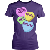 English - Candy Hearts - District Made Womens Shirt / Purple / S - 10