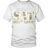 SAT Boot Camp - District Unisex Shirt / White / S - 2