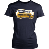 School Bus Driver - My Other Car - District Made Womens Shirt / Navy / S - 13