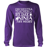 Orchestra - Teacher By Day - District Long Sleeve / Purple / S - 6