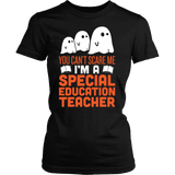 Special Education - Halloween Ghost - District Made Womens Shirt / Black / S - 1