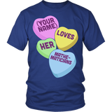 Math - Candy Hearts - District Unisex Shirt / Royal Blue / S - 2