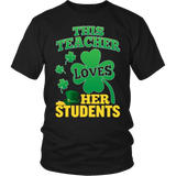 Teacher - St. Patrick's Day Her Students - District Unisex Shirt / Black / S - 5