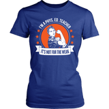 Phys Ed - Not For The Weak - District Made Womens Shirt / Royal / S - 12