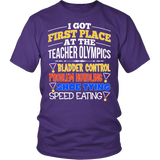 Teacher - Teacher Olympics - District Unisex Shirt / Purple / S - 3