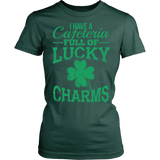 Lunch Lady - Lucky Charms - District Made Womens Shirt / Forest Green / S - 12