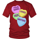 English - Candy Hearts - District Unisex Shirt / Red / S - 3