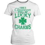 Teacher - Lucky Charms - District Made Womens Shirt / White / S - 1