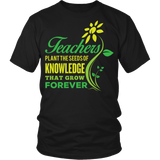 Teacher - Seeds of Knowledge - District Unisex Shirt / Black / S - 6