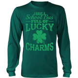 School Bus Driver - Lucky Charms - District Long Sleeve / Dark Green / S - 6