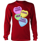 Third Grade - Candy Hearts - District Long Sleeve / Red / S - 7