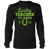 Teacher - Lucky To Have You - District Long Sleeve / Black / S - 7