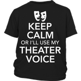 Theater - Keep Calm Voice - Kids - District Youth Shirt / Black / XS - 3