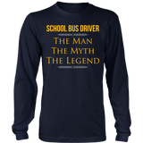 School Bus Driver - The Man The Myth - District Long Sleeve / Navy / S - 6