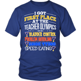 Teacher - Teacher Olympics - District Unisex Shirt / Royal Blue / S - 2