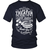 Theater - Crazy Fantasy - District Unisex Shirt / Navy / S - 2