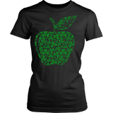 Teacher - Apple Clovers - District Made Womens Shirt / Black / XS - 9