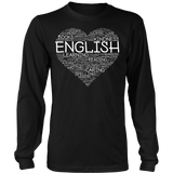 English - Heart - District Long Sleeve / Black / S - 8