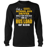 School Bus Driver - Turn Their Back - District Long Sleeve / Black / S - 7