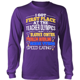 Teacher - Teacher Olympics - District Long Sleeve / Purple / S - 8