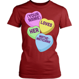 Math - Candy Hearts - District Made Womens Shirt / Red / S - 14
