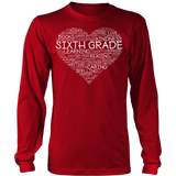 Sixth Grade - Heart - District Long Sleeve / Red / S - 6
