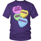 Librarian - Candy Hearts Readers - District Unisex Shirt / Purple / S - 4