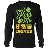 School Bus Driver - Don't Kiss Me - District Long Sleeve / Black / S - 6