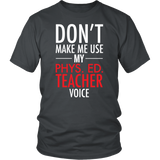 Phys Ed - Voice - District Unisex Shirt / Charcoal / S - 3