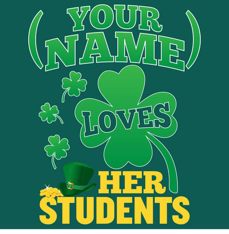 Teacher - St. Patrick's Day Students -  - 15