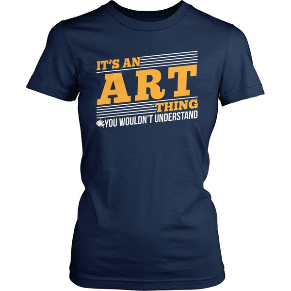 Art - Art Thing - District Made Womens Shirt / Navy / S - 1