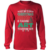 Art - Christmas Cheer - District Long Sleeve / Red / S - 8