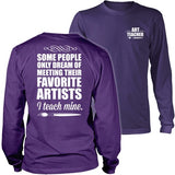 Art - I Teach Mine - District Long Sleeve / Purple / S - 31