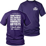 Art - I Teach Mine - District Unisex Shirt / Purple / S - 32