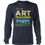 Art - Proud Mom - District Long Sleeve / Navy / S - 11
