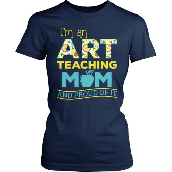 Art - Proud Mom - District Made Womens Shirt / Navy / S - 1
